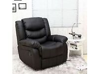 New Single Seater Faux Leather Reclining Armchair (FREE LOCAL DELIVERY!!!)