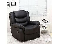 New Single Seater Faux Leather Reclining Armchair (Free Local Delivery)