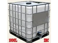 1000L IBC CONTAINERS, CUBES, TANKS FOR SALE
