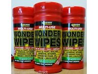 EverBuild Wonder Wipes. £5.00 per tub of 100 wipes.