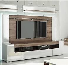 New and assembled Toronto tv cabinet and wall fitting 190cm ( LED lights inc)