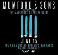 Mumford & Sons Ticket - The Commons at Butler's Barracks