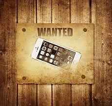 Wanted - We buy iphones ipad ipod  working cracked broken
