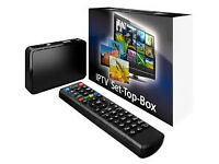 new mag250 iptv full setup box with 1 year gift plus uk list not a skybox