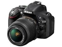 Nikon D5200 with 18-55 VR II Lens, works as new