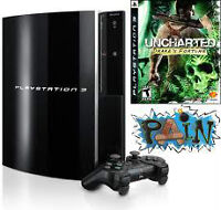 Playstation 3 160G Uncharted bundle new W/PS Move,camera,16games