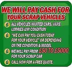 ♻️♻️SCRAP my car, cars Vans and 4x4 WANTED for cash ♻️♻️