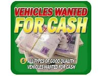 £500 · WANTED: CARS & VANS WANTED FOR CASH UP TO £500 PAID OR MORE FOR THE RIGHT VEHICLES