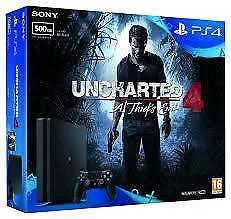 Playstation 4 slim uncharted 4 bundle. New