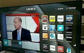 """LUXOR 40"""" LED smart wifi built USB MEDIA PLAYER HD FREEVIEW and Screen mirror full hd 1080p ."""