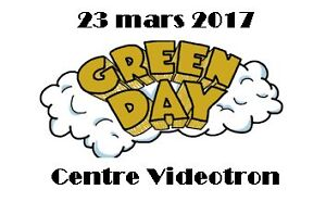 *Excellents billets zone VIP 6e rangée Green Day 23 mars*