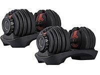 Pair of Adjustable Dumbbells 2-24kg