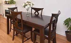 Canadian Made Solid Wood Dining Table & 4 Chairs