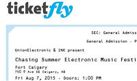 1 General Admission e-ticket - CHASING SUMMER August 2015