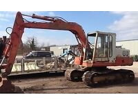 Poclain 60 (13 Ton) 360* Excavator. Digger Machine - Extra Wide Flotation tracks