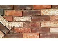 Brick tile: Barock; red/white/black flamed color ref 443WDF, Hand molding. Dim.215x65x21mm
