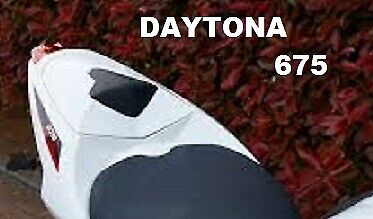 A9708343 NW GENUINE TRIUMPH SEAT COWL CRYST WHITE DAYTONA 675 FROM