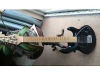 Music Man Silhouette HSH black guitar may pt ex les paul / gretsch / yamaha sg/ ibanez