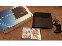 Playstation 4 - 500GB with 1 Controller, Box, Accessories and Street Fighter 4+Assassins Creed