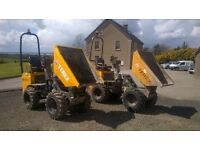 2004 and 2008 Terex High Tip narrow access dumpers
