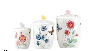 Lenox - vaisselle Butterfly Meadow NEUF! / Canister set - NEW!