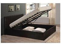 Double, ottoman, storage bed, king size, leather bed, & Memory foam Mattress. Luxury Mattress.