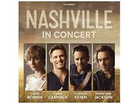 Nashville in Concert - 2 x Tickets for Manchester Arena Saturday 17th June 2017