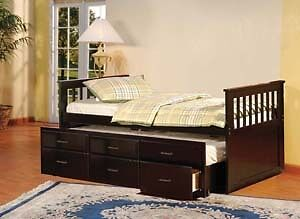 ★LORD SELKIRK FURNITURE- CAPTAIN BED WITH TRUNDLE DRAWERS★$399.