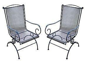 wrought iron patio chairs rot furniture