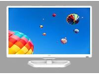 """24""""JVC WHITE LED DVD USB FREEVIEW 5 MONTH OLD ONLY"""