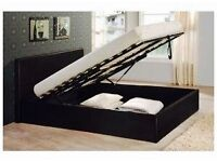 BRAND NEW DOUBLE LEATHER STORAGE BEDS