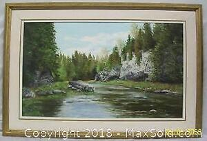 Large Oil Painting on Canvas by Listed Canadian Artist Norma Scharman Shoreline Artist Group
