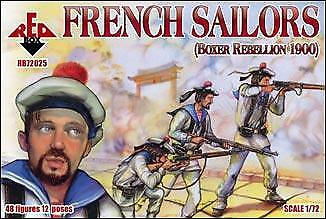 Red Box 1/72 French Sailors Boxer Rebellion 1900 # 72025