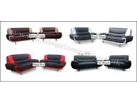 THE 2 TONE ITALIAN STYLE SOFA IN HIGH QUALITY PU BRAND NEW PACKED £299 ALSO CORNER AVAILABLE
