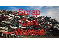 CARS WANTED FOR SCRAP £120 MINIMUM CASH PAID ON COLLECTION