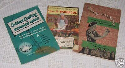 Lot  3 Books Reynolds Wrap How To Barbecue Canning