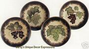 Decorative Grape Plates