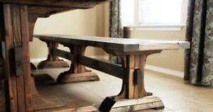 Pedestal Farmhouse Table Cambridge Kitchener Area image 4