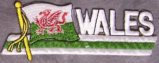 Embroidered International Patch National Flag of Wales NEW streamer