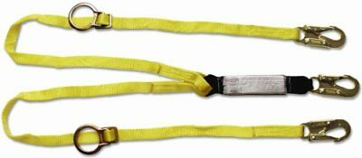 Guardian Fall Protection 01291 6-foot Double Leg Tie-back Lanyard With Adjust...