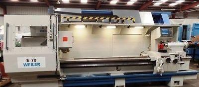 1998 Weiler E70 Cnc Lathe Tailstock Mk 6 Chip Conveyor