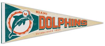 (MIAMI DOLPHINS NFL Retro 1970s Style Premium Felt Collector's PENNANT)