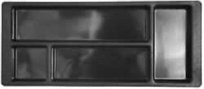 2 Drawer Plastic Desk (Desk Drawer Organizer Plastic Pencil Tray Black 5-1/2