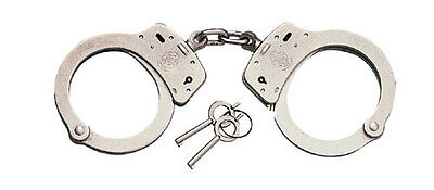 Smith & Wesson 350103 Standard Nickel Police Double Lock Handcuffs Model 100