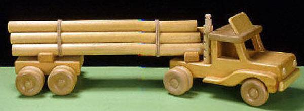 Log Truck Woodworking Blueprint Plan