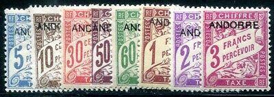 FRANZ ANDORRA PORTO 1931 1-8 * TADELLOSER SATZ (I1756