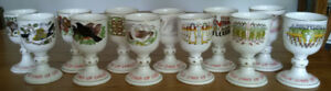 "Royal Doulton's ""12 Days Of Christmas"" Bone China Goblets"