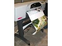 HP Designjet 500 large format colour printer. A1 size with roll feed.