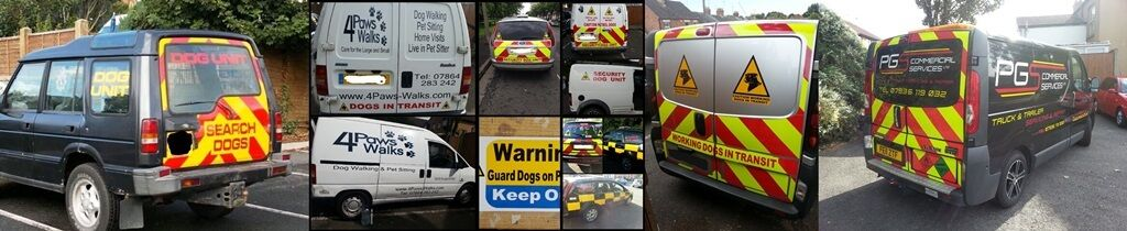 K9 signs and graphics