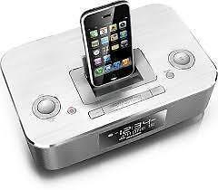 Philips DC290/37 Aluminum Docking Clock Radio iPhone 3G/3GS  iPod nano 1G, 2G, 3G, 4G, 5G; iPod classi 5G, 5.5G, 6G; i